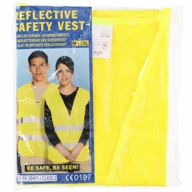 Neon geel veiligheidsvest voor volwassenen