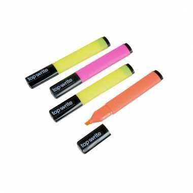 Neon gekleurde stiften 4 stuks