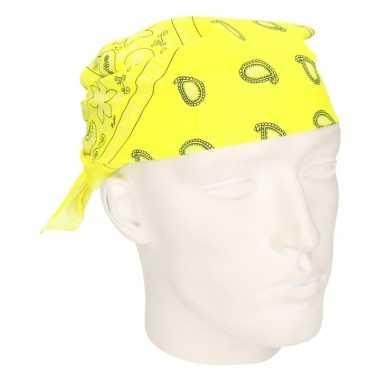 Neon gele hoofddoek bandana