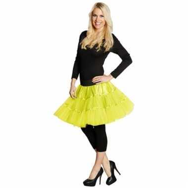 Neon gele petticoat voor dames
