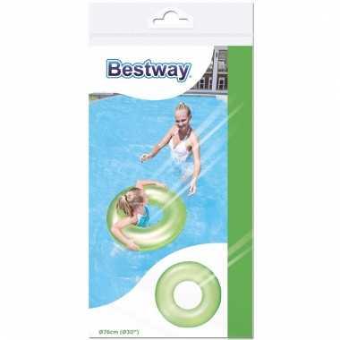 Neon glow zwemband groen 76 cm