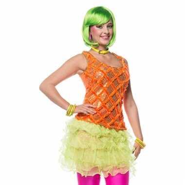 Neon groen rokje voor dames
