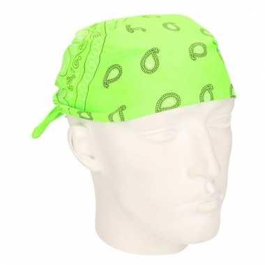 Neon groene hoofddoek bandana
