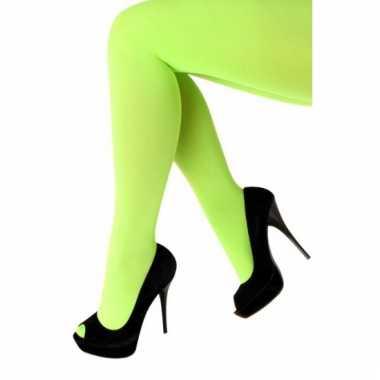 Neon groene panty 60 denier
