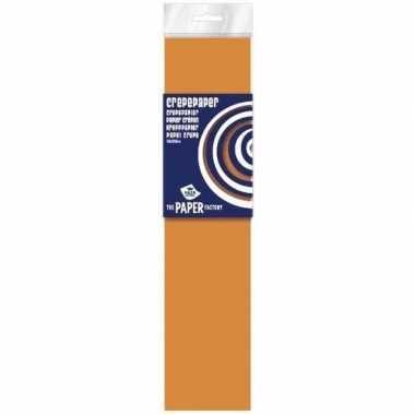 Neon oranje crepe papier plat