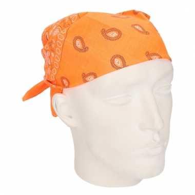 Neon oranje hoofddoek bandana
