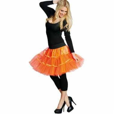 Neon oranje petticoat voor dames