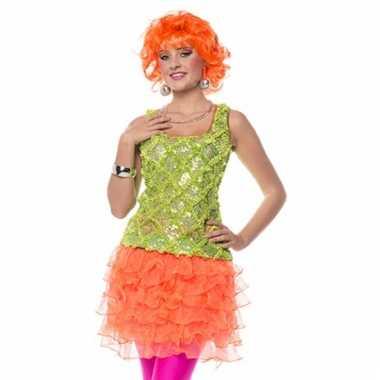 Neon oranje rokje voor dames