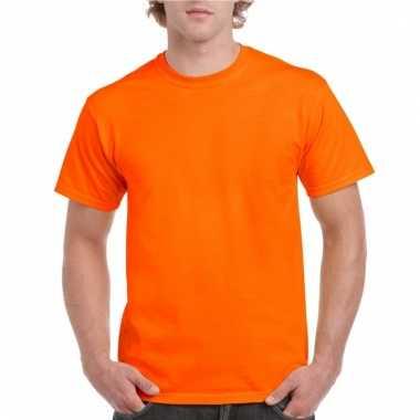 Neon oranje t-shirts voor volwassenen