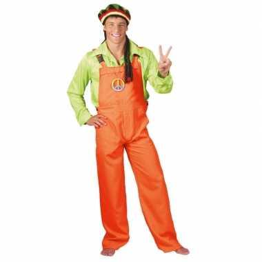 Neon oranje tuinbroek voor dames en heren