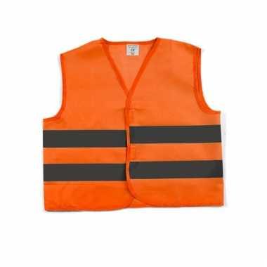 Neon oranje veiligheidsvest voor kids