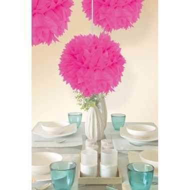 Neon roze decoratie bollen