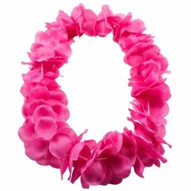 Neon roze hawaii krans