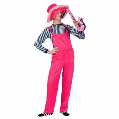 Neon roze tuinbroek voor dames en heren