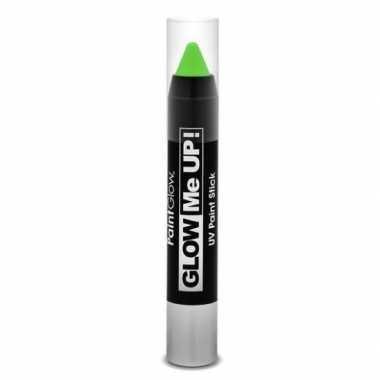 Neon uv make-up stick groen