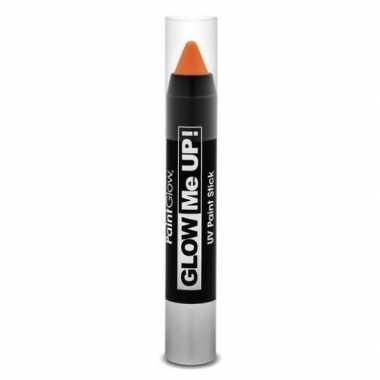 Neon uv make-up stick oranje