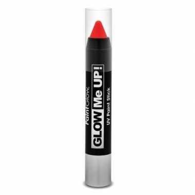 Neon uv make-up stick rood