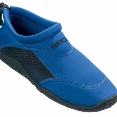 Neopreen blauwe waterschoenen voor dames