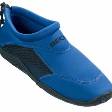 Neopreen waterschoenen voor heren blauw