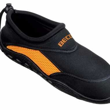 Neopreen waterschoenen voor heren zwart oranje