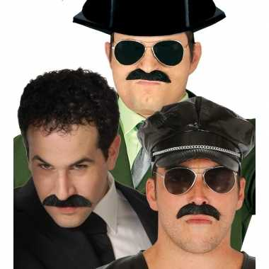 Nep el chapo snor zwart voor heren