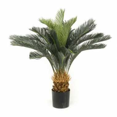 Nep kantoorplanten groene cycas revoluta vredespalm kunstplanten 90 c