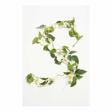 Nep planten clematis kunstbloemen takken 180 cm decoratie