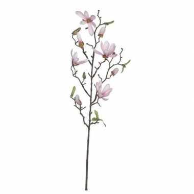 Nep planten magnolia beverboom kunstbloemen takken 80 cm decoratie