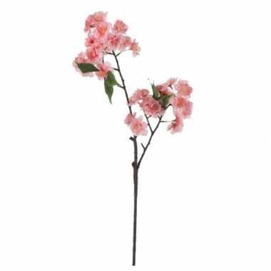 Nep planten prunus serrulata kersenbloesem kunstbloemen takken 60 cm