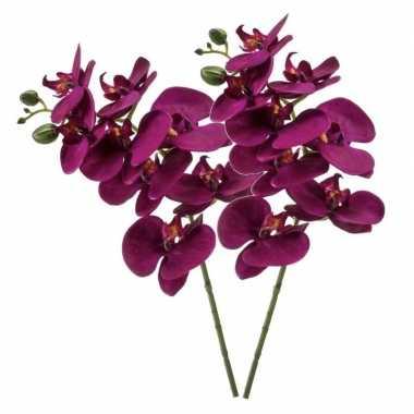 Nep planten violet paarse phaleanopsis vlinderorchidee kunstbloemen 7