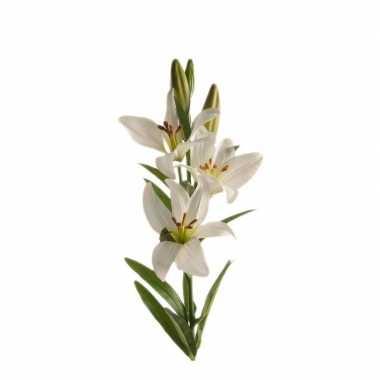 Nep planten witte lilium candidum witte lelie kunstbloemen 70 cm deco