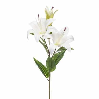 Nep planten witte lilium candidum witte lelie kunstbloemen 78 cm deco
