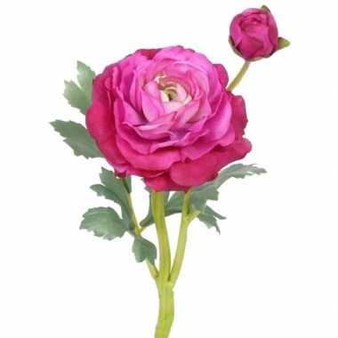 Nep ranonkel fuchsia roze 35 cm