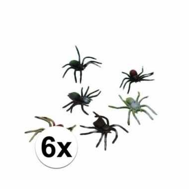 Nep spinnetjes 10 cm 6 stuks