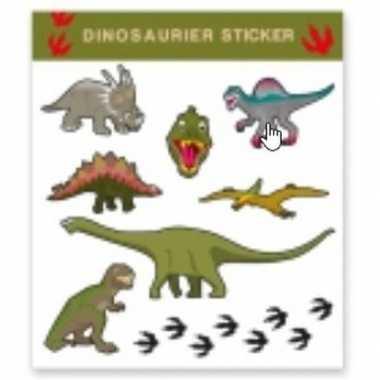 Nep tatoeage stickers dinosaurus 8 stuks