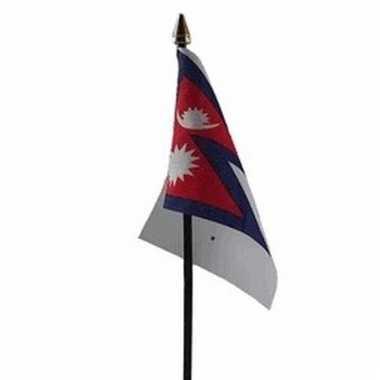 Nepal vlaggetje polyester