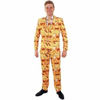 Net pak/kostuum met snack print voor heren