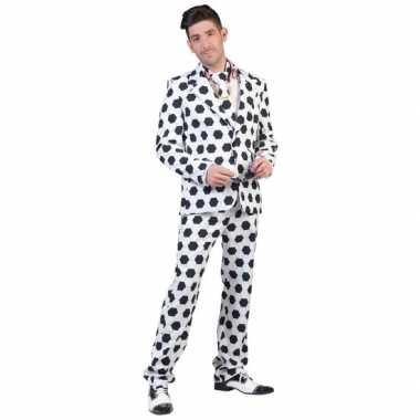 Net pak/kostuum met voetbal print voor heren