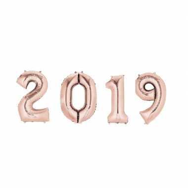 New year versiering 2019 ballonnen rose goud