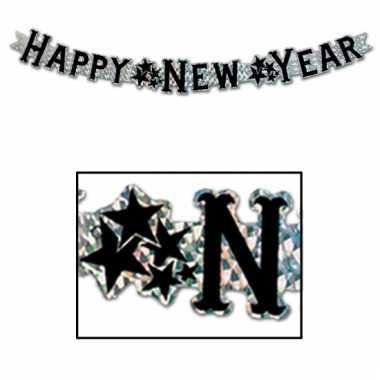 Nieuwjaar feest slinger goud 90 cm happy new year