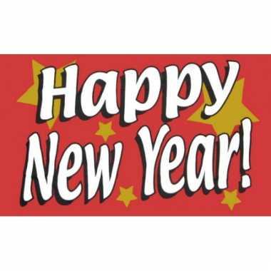 Nieuwjaar vlag happy new year!