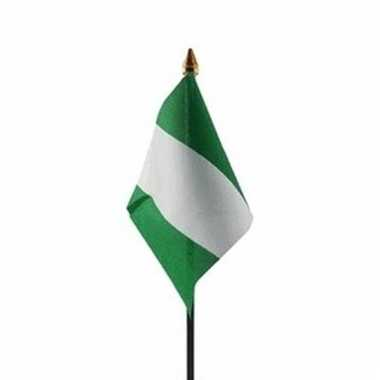 Nigeria vlaggetje polyester