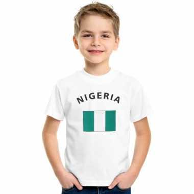 Nigeriaanse vlag t-shirts voor kinderen