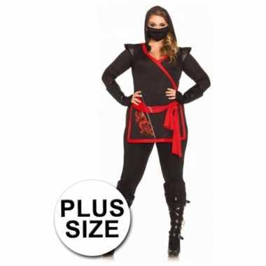 Ninja kostuum grote maten