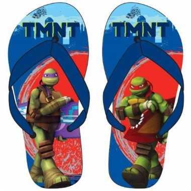 Ninja turtles flip flops blauw voor jongens