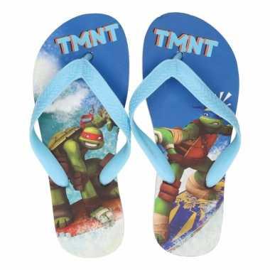 Ninja turtles flip flops lichtblauw voor jongens