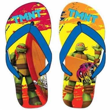 Ninja turtles flip flops rood/oranje voor jongens