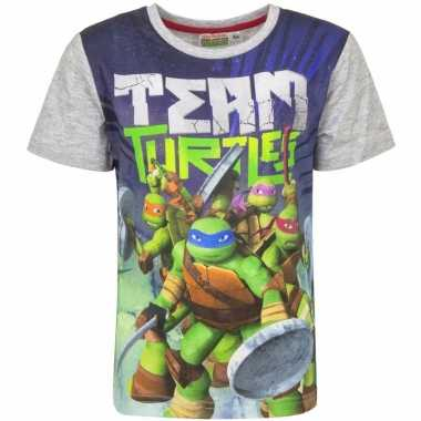Ninja turtles shirt voor kinderen grijs