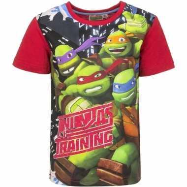 Ninja turtles shirt voor kinderen rood