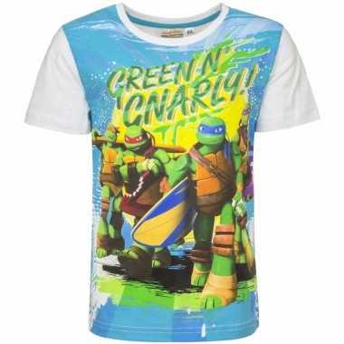 Ninja turtles shirt voor kinderen wit